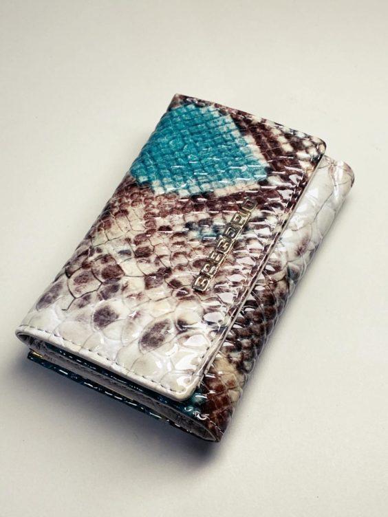 Kožená peněženka Gregorio Snake S tyrkysová -01