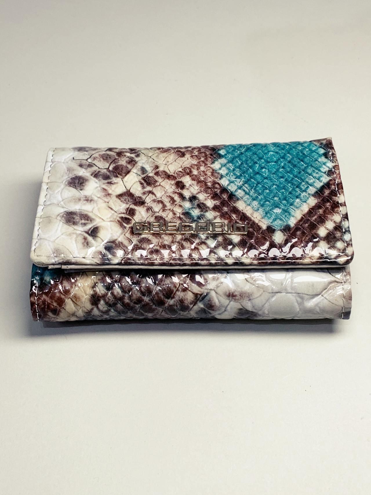 Kožená peněženka Gregorio Snake S tyrkysová -02