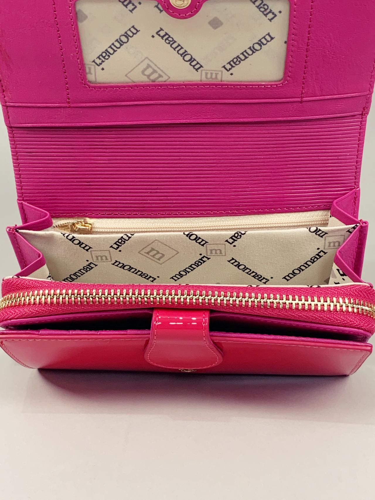 Kožená peněženka Monnari M2 růžová -04