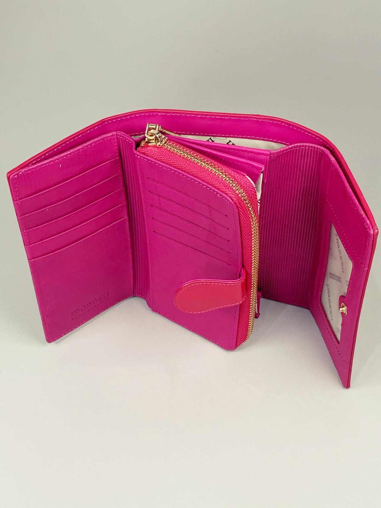 Kožená peněženka Monnari M2 růžová -05