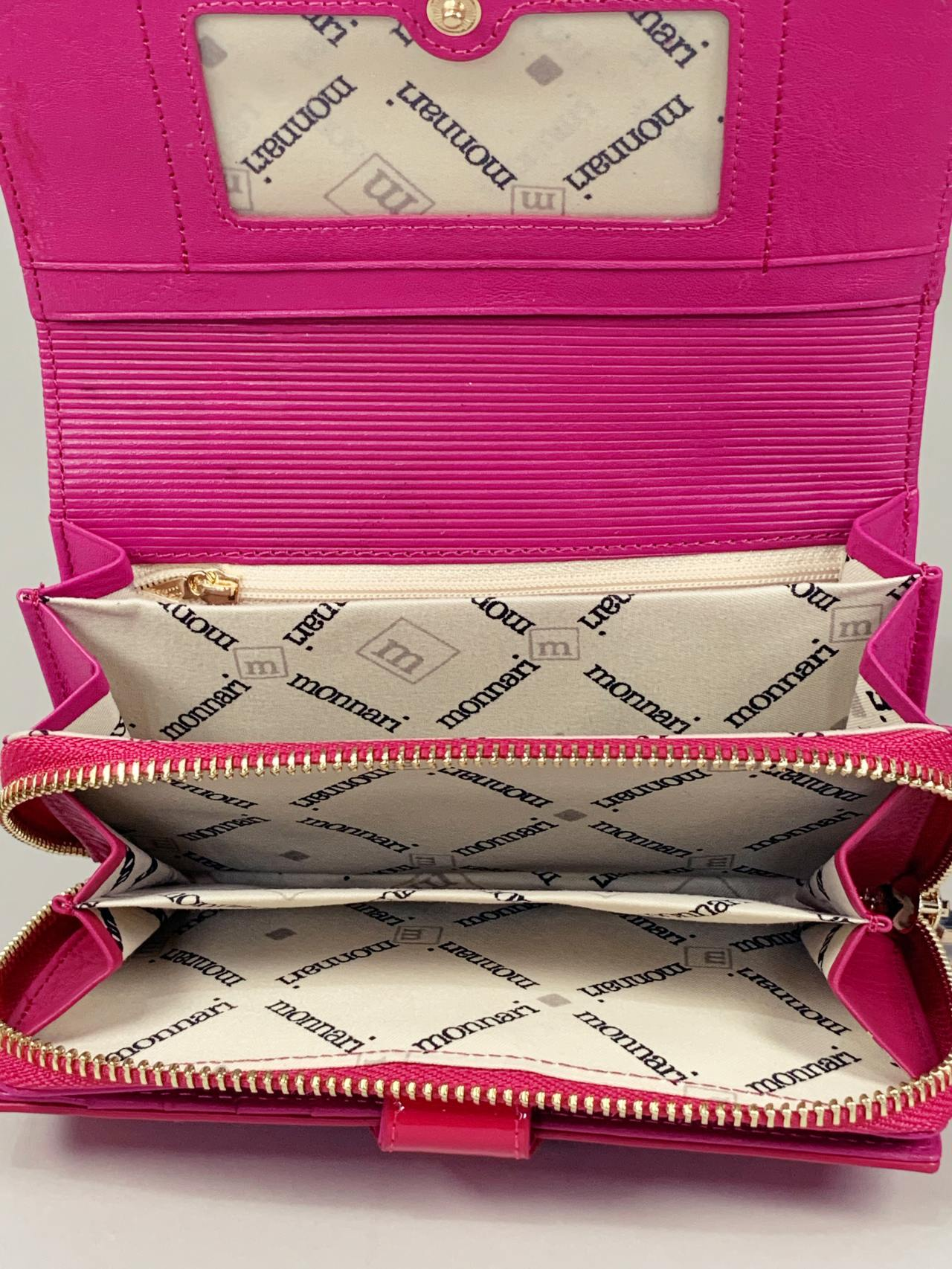 Kožená peněženka Monnari M2 růžová -06