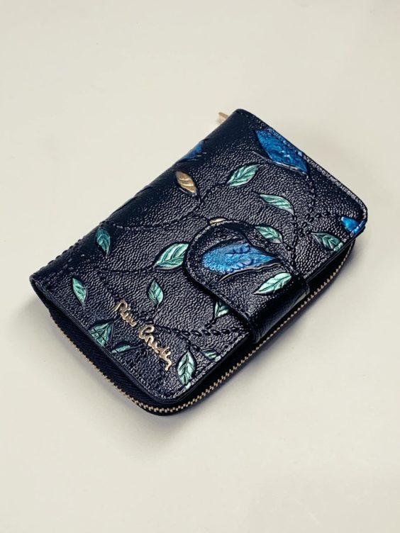 Kožená peněženka Pierre Cardin S černá s lístky -01