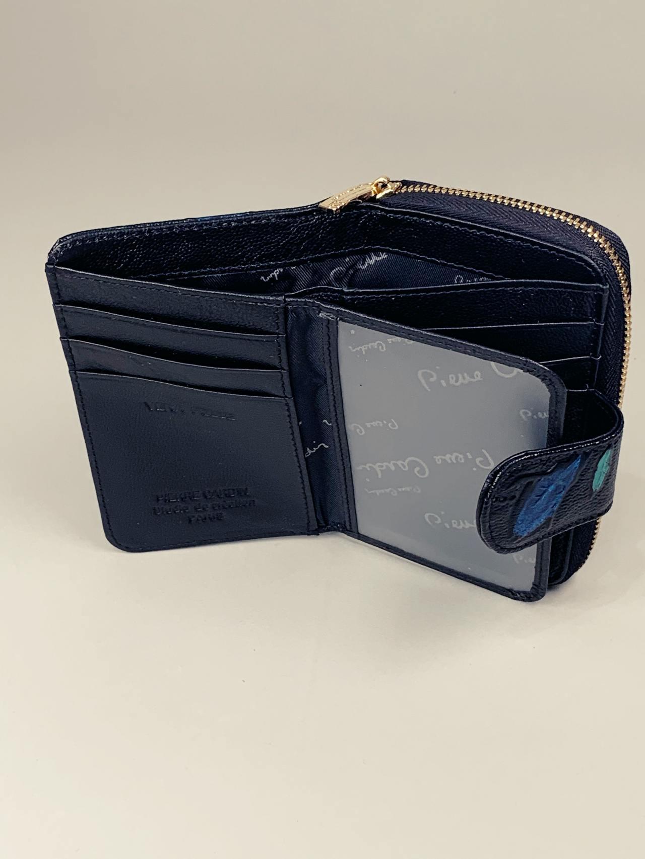 Kožená peněženka Pierre Cardin S černá s lístky -03