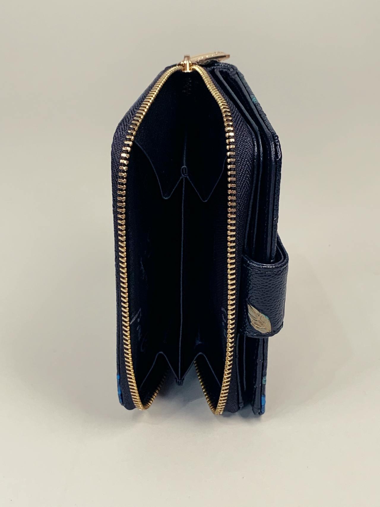 Kožená peněženka Pierre Cardin S černá s lístky -05