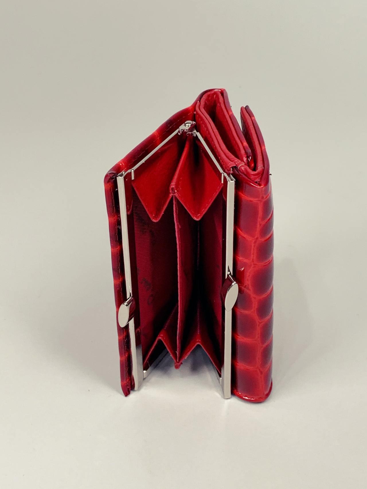 Kožená peněženka Pierre Cardin S červená -04