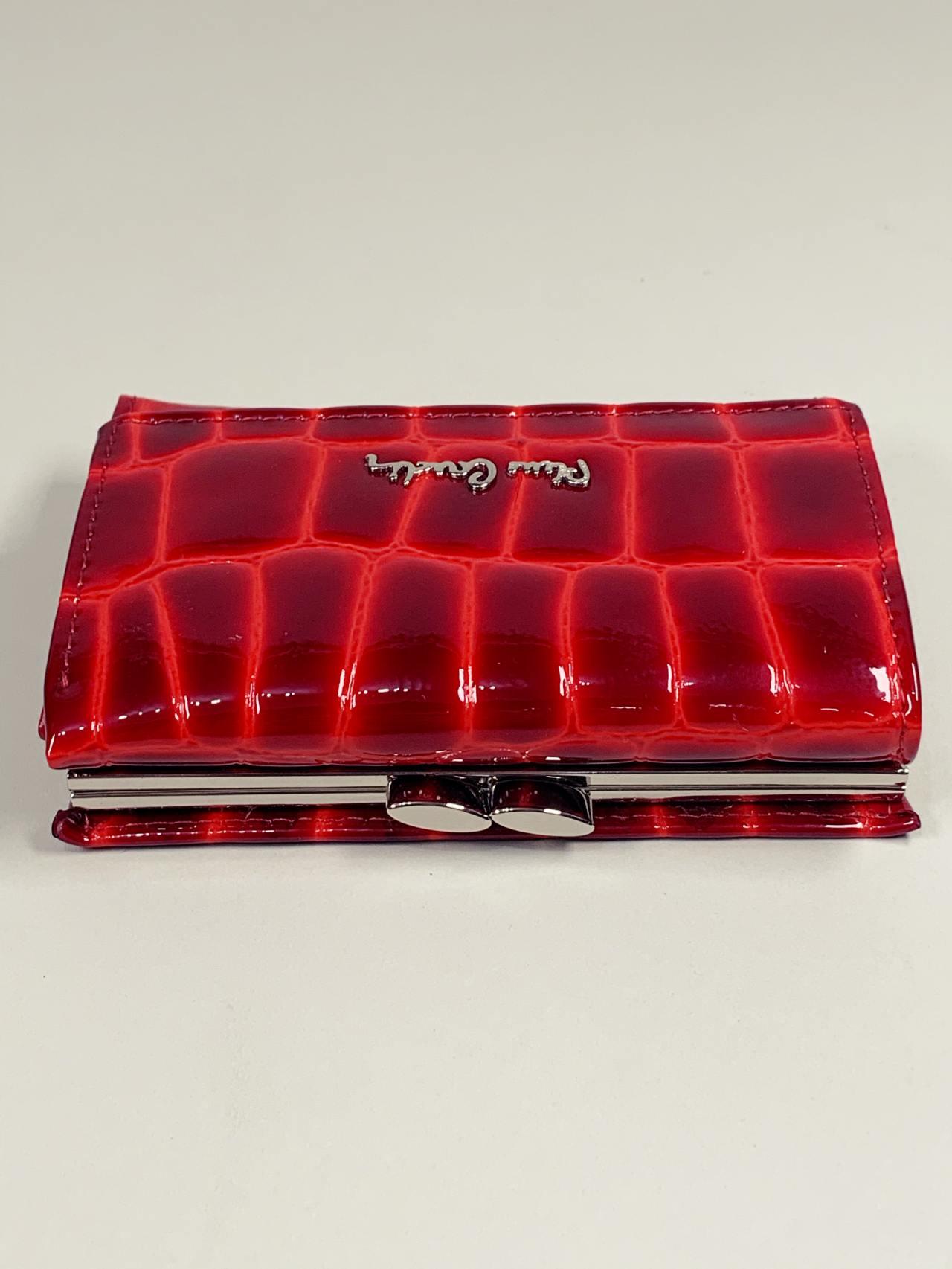 Kožená peněženka Pierre Cardin S červená -05